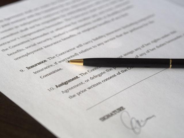 英文の契約書