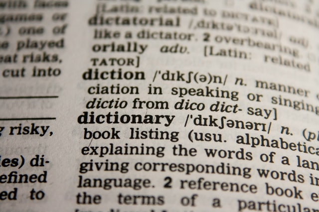 英字辞書の英単語